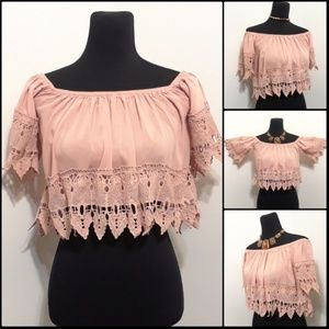 BEAUTIFUL Boho Style Off the Shoulder Crop Top